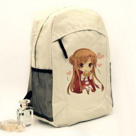 Anime Sword Art Online Unisex Students School Bag Canvas Casual Backpacks