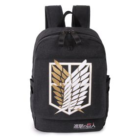 Anime Attack on Titan Unisex Students School Bag Casual Backpacks